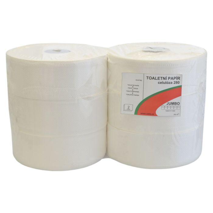 Toaletní papír Jumbo 280 - 2-vrstvý bílý - 6 ks