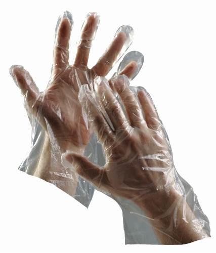 Jednorázové polyetylenové rukavice